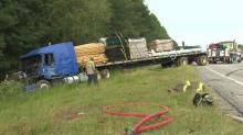 Twenty-six people were injured after a tractor-trailer rear-ended a bus carrying migrant workers on U.S. Highway 64 near Tarboro on Monday morning, according to the state Highway Patrol.