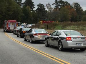 A 16-year-old Knightdale High School student died Wednesday morning in a wreck involving a City of Raleigh vehicle, state Highway Patrol officials said.