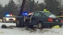 IMAGES: 5 deaths, dozens of accidents attributed to slick roads