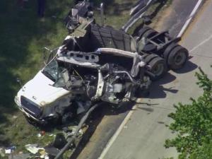 Northbound lanes of Interstate 85 near the North Carolina-Virginia state line could remain closed until mid-afternoon Tuesday due to a wreck involving a tractor-trailer.