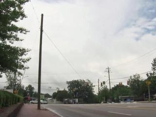 Raleigh's Five Points intersection is well-known for its unique shape and famous landmarks - Hayes Barton Baptist Church, Nofo at the Pig, The Rialto Theatre and much more. It's also the site of an infamous utility pole, one the city says has been damaged nearly a dozen times in the last half-decade.