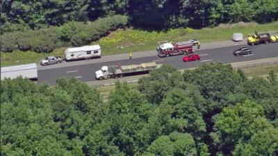 Authorities briefly shut down all southbound lanes of Interstate 85 near Hillsborough Monday afternoon due to a wreck.