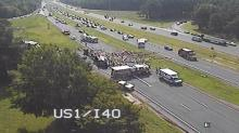 IMAGE: I-440 reopens after wreck involving log truck