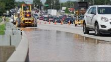 IMAGES: Crews working to fix main breaks on Capital Boulevard, Six Forks Road