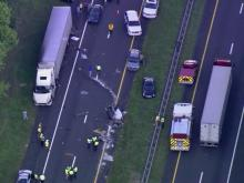 Sky 5 flies over multi-vehicle crash on I-85
