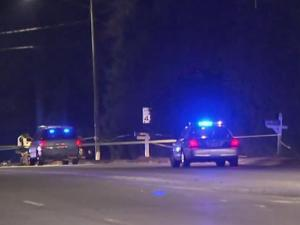 Authorities said North New Hope road was closed in both directions near Marsh Creek Road as officers investigate the crash that occurred at about 8:10 p.m.