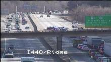 IMAGE: Chase causes I-440 traffic backup in Raleigh