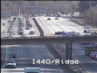 Interstate 440 was closed in Raleigh at Ridge Road after a police chase early Thursday.