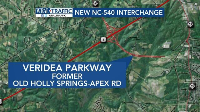 A new interchange on N.C. Highway 540 opened Tuesday morning to give drivers in southwest Raleigh a quicker connection to the Triangle Expressway.