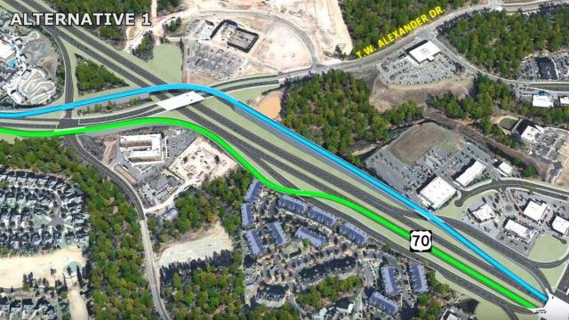 The North Carolina Department of Transportation is hoping a new interchange will help traffic flow on Glenwood Avenue near Brier Creek.
