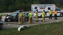 IMAGES: 1 hospitalized after crash on U.S. 64 in Knightdale