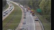 IMAGE: Tractor-trailer wreck clogs I-40 east near Hillsborough