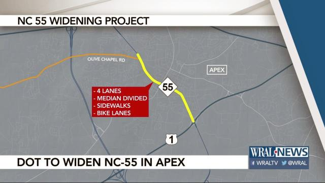 DOT hopes to widen section of Highway 55 in Apex