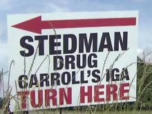 Stedman merchants try to flag down motorists on bypass