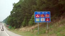 Highway sign, roadside sign