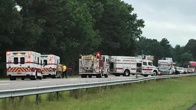 All lanes on Interstate 95 northbound were closed early Saturday afternoon due to a crash.