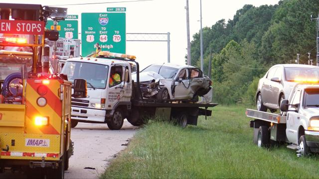 Two injured in I-40 wreck near Airport Blvd.
