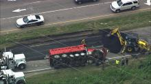 IMAGES: All lanes of U.S. 70 closed at Page Road in Durham due to crash