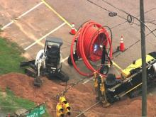 Gas leak causes traffic problems in west Raleigh