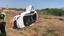 Car crashes at new Holly Springs intersection