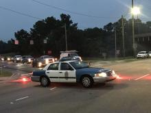 Crash, low-hanging power lines close Wake Forest Road in Raleigh