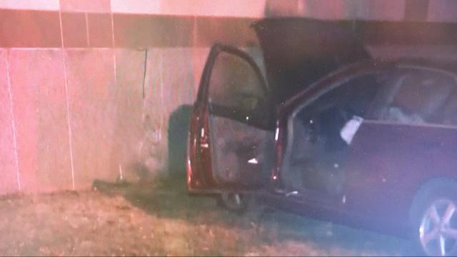 A two-car crash early Friday sent one vehicle into the wall at the NC Museum of History.