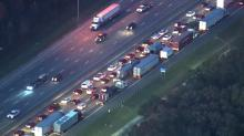 IMAGES: I-40 reopens near Mebane after early morning crash