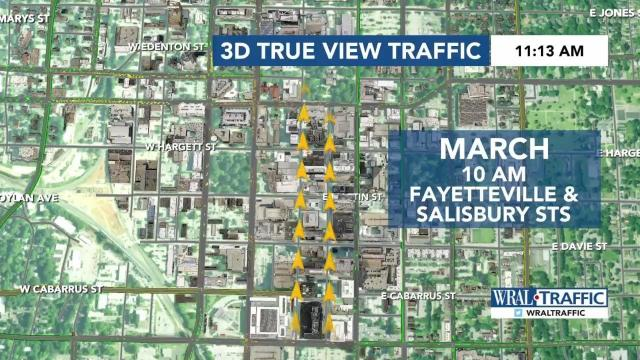 Slow traffic expected in downtown Raleigh on rally day