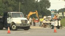 IMAGES: Work to repair Rock Quarry Road in SE Raleigh could slow motorists after overnight gas leak