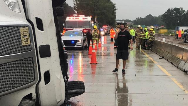 High water closes I-95, I-40