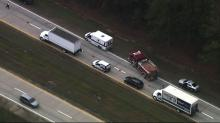 IMAGES: Highway Patrol: Person stepped into path of tractor trailer on I-40