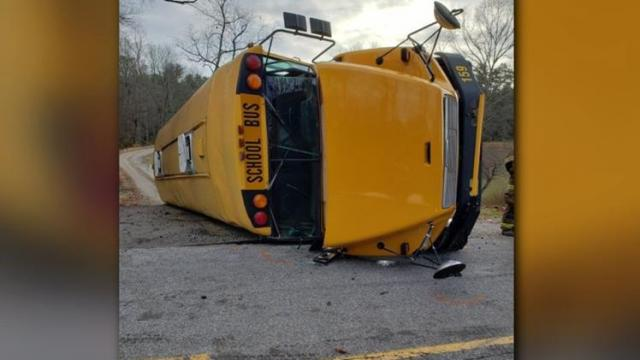 Multiple injuries reported after school bus rollover crash near Hickory