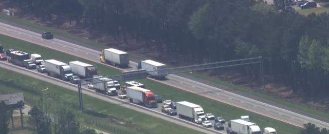 All lanes of I-95 back open after big rig crash in Johnston County