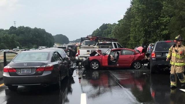 Highway Patrol: 30 vehicles involved in I-40 crash :: WRAL com