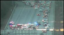 IMAGE: Traffic moving again after crash in EB lanes of I-40 at Wade Avenue
