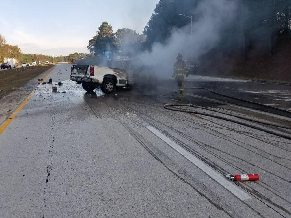 I 40 reopens after fiery truck crash near Benson :: WRAL.com Sc Interstate Map on sc coastal map, sc counties with interstates, sc regional map, sc airport map, sc road map, sc hurricane map, sc regions map, sc atlas map, sc beach map, sc state map, sc lakes and rivers map, sc flood maps, sc columbia map, sc district map, upstate sc map, sc city map, sc white map, sc islands map,