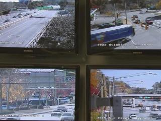 Traffic engineers monitor cameras and intervene to adjust signals and eliminate congestion. (Edward Wilson / WRAL)