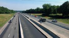 IMAGES: First parts of Fortify paving nearly complete on I-440W