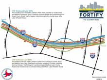 New lanes will open on 1-40 E in Raleigh Monday as part of the Fortify project.
