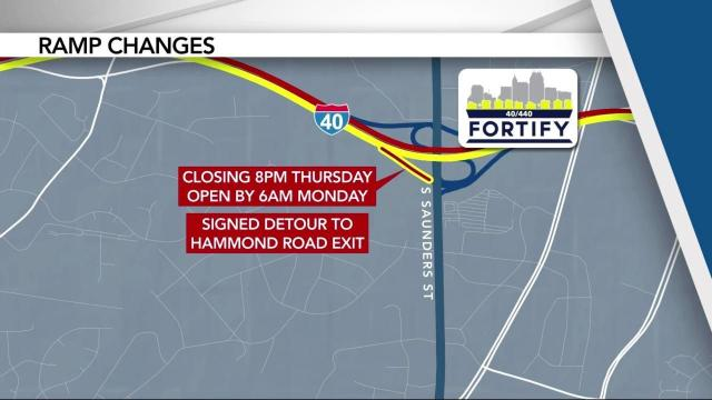 I-40 ramp to South Saunders reopens after years of construction