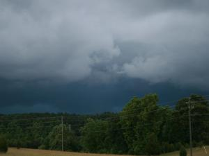 Photo by: Angie Taverna. Storm Clouds on Sunday 6/3 in Wake Forest