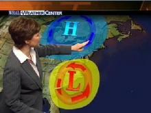 WRAL Meteorologist Elizabeth Gardner explains how two fronts are funneling high winds and rain into North Carolina.