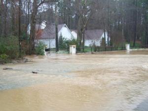 Flooding at Devon Road in Durham.