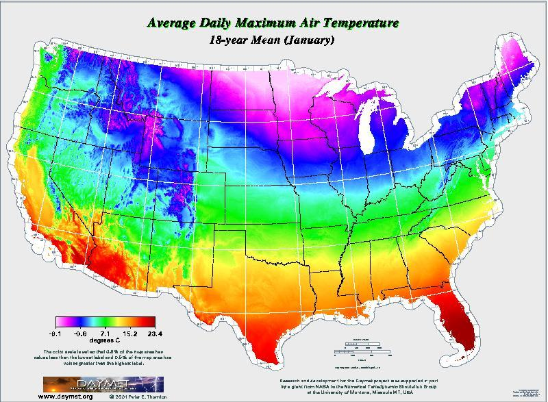 You give us the 30 yr average temperatures. That is a mean of 30 ...