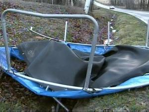 Strong winds blew a trampoline through a yard in Johnston County, but overall, North Carolina made it through the storm with minimal damage.