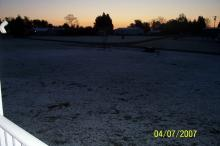 Snow on the ground near Efland, Apr 7th, 2007.