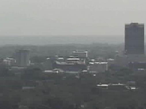 A picture from a tower camera shows the haze over Raleigh from smoke blowing in from wildfires in Georgia and Florida.