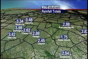 48-Hour Rainfall Totals As of Noon Friday
