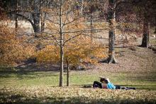 With temperatures in the 70's this week, Pullen Park in Raleigh was the place to spend an afternoon in the warm sun.