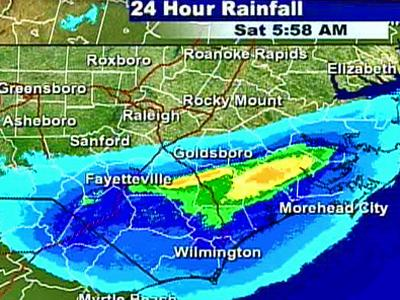 Fayetteville and southeastern North Carolina got significant amounts of rain on Friday, Dec. 21, 2007.